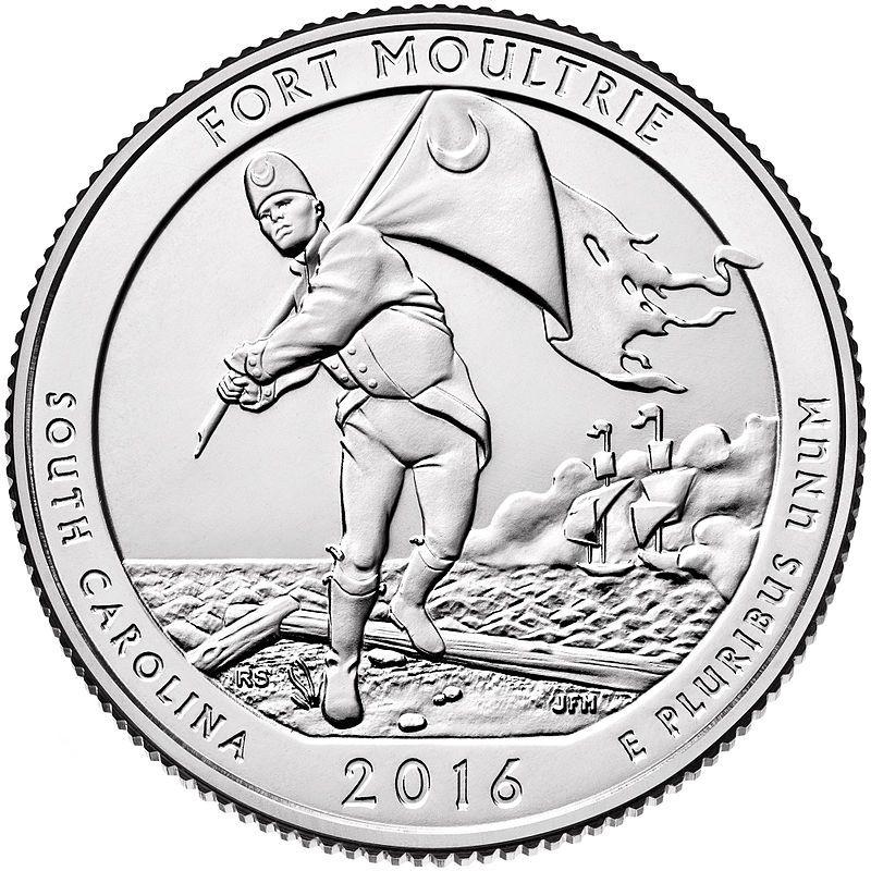 """25 центов 35-й парк """"Форт Молтри (Fort Moultrie)"""""""